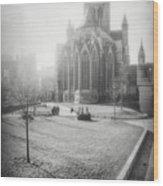 St Nicholas Church Ghent Belgium Black And White Wood Print