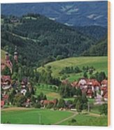 St. Peters Abbey, Black Forest, Germany Wood Print