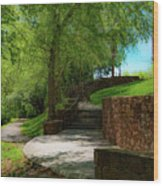Stairway To Carlyle Wood Print