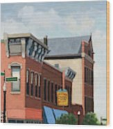 Standing Tall -local City Buildings Wood Print
