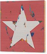 Star #10 Wood Print