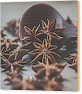Star Anise 4825 By Tl Wilson Photography  Wood Print