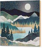 Star Lake Wood Print