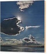 Star Over The Upper Niagara River Wood Print