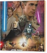 Star Wars Episode II Wood Print