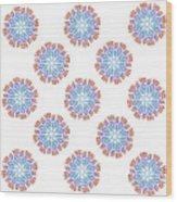 Starburst Pattern Wood Print