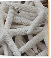 Starfish In A Basket Wood Print