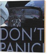 Starman Don't You Panic Now Wood Print