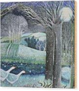 Starry River Wood Print