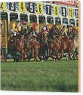Start Of Horse Race, Sydney, New South Wood Print