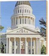 State Of California Capitol Building 7d11736 Wood Print