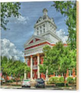 Stately Elegance Morgan County Court House Madison Georgia Art Wood Print