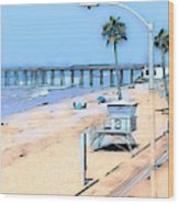 Station 3 Oceanside California Wood Print