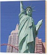 Statue Of Liberty Replica In Las Vegas Wood Print