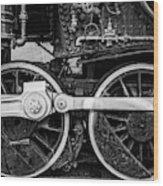 Steam Locomotive Detail Wood Print