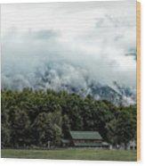 Steaming White Mountains Wood Print