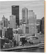 Steel City Skyline Wood Print