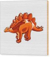 Stegosaurus Cartoon Wood Print