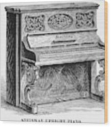 Steinway Piano, 1878 Wood Print
