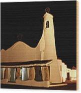 Stella Maris Church In Porto Cervo With Wood Print