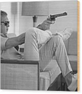 Steve Mcqueen Takes Aim Wood Print