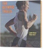 Steve Scott, 1980 Us Olympic Track & Field Trials Sports Illustrated Cover Wood Print