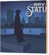 Stevie Ray Vaughan Memorial Statue  Wood Print