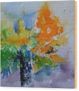 Still Life Watercolor 549110 Wood Print