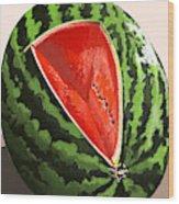 Still Life Watermelon 1 Wood Print