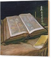 Still Life With Bible - Digital Remastered Edition Wood Print