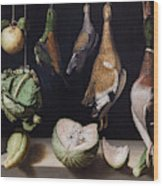 Still Life With Game Fowl Wood Print