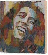Stir It Up - Retro - Bob Marley Wood Print