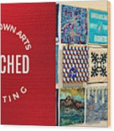 Stitched Quilting Exhibit Wood Print