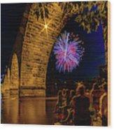 Stone Arch Bridge, July 4 Wood Print