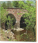 Stone Bridge At The Eastern Entrance Of The Manassas Battlefield  Wood Print