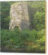 Stone Iron Furnace - Franconia New Hampshire Wood Print