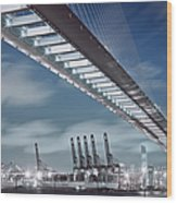 Stonecutters And Container Terminal Wood Print
