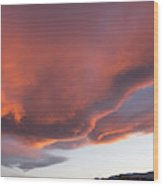 Storm At Sunset, North America Wood Print