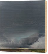 Storm Chasin In Nader Alley 008 Wood Print
