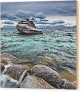 Storm, Lake Tahoe Wood Print