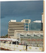 Storm Over Union Station Wood Print