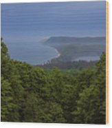 Stormy Day On Sleeping Bear Dunes Wood Print