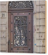 Strasbourg Door 11 Wood Print