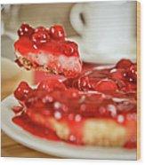 Strawberry Cheesecake Wood Print
