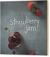 Strawberry Jam Wood Print