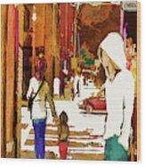 Street Life Innocence Wood Print