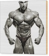 Strong Male Model Wood Print