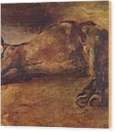 Study For Dead Horse Wood Print