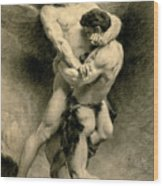 Study For Jacob Wrestling With The Angel, 1876 Wood Print