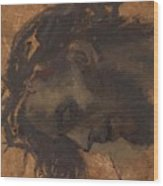 Study For The Head Of Christ In A Crucifixion Wood Print